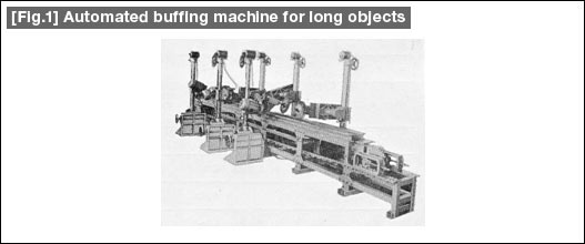 [Fig.1] Automated buffing machine for long objects